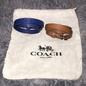 Coach Leather Bracelets (2)